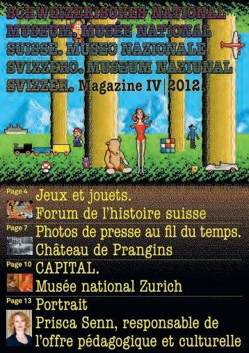 Magazine IV|2012. Jeux et jouets. Forum de l'histoire suisse Photos ...