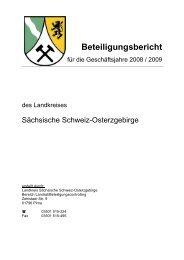 Beteiligungsbericht - Landkreis Sächsische Schweiz - Osterzgebirge