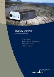SOLON DC AC Inverter - Domino TC05/12 TC07/24