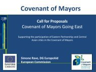 Covenant of Mayors Going East