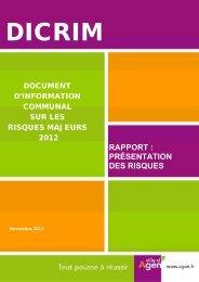 Téléchargez le DICRIM au format PDF - Ville d'Agen
