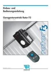 Rademacher Garagentorantrieb F3 Rator 47xx ... - auf enobi.de