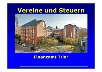 Besteuerung der Sportvereine - Das Finanzamt Trier