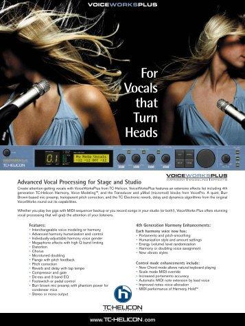 VOICEWORKS-PLUS Brochure - Full Compass