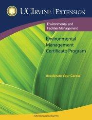 Environmental Management Certificate Program - UC Irvine Extension