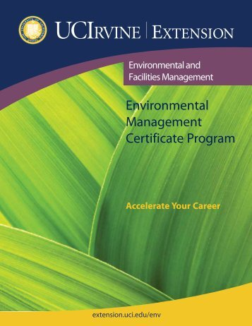 Environmental Management Certificate Program - UC Irvine Extension