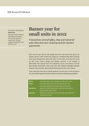 Banner year for small units in 2012 - HSR