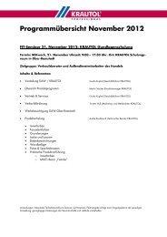 Programmübersicht November 2012 - Krautol