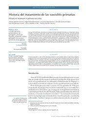 Historia del tratamiento de las vasculitis primarias