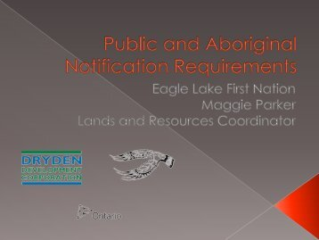 Public and First Nation Notification