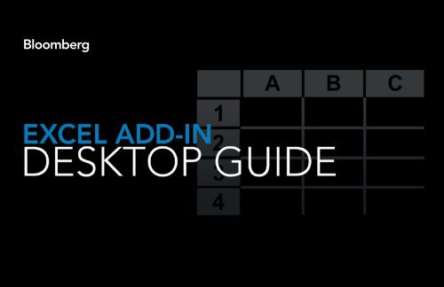 Bloomberg excel add-in guide