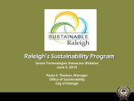 Raleigh's Sustainability Program - NC Project Green