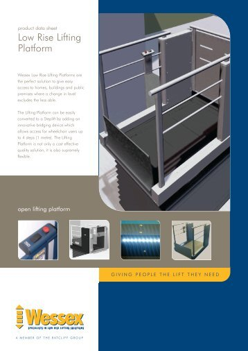 Wessex Low Rise Lifting Platform Brochure - Ascendit Lifts Limited
