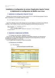 Installation et configuration du serveur d'application Apache Tomcat ...
