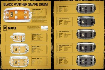 Black Panther Snare Drum p 28-33 - Mapex