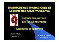 Rupture de l'isthme aortique - SMUR BMPM
