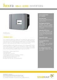 4200 SK-L - Solarkauf