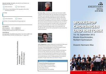 WORKSHOP CHORSINGEN UND RHETORIK - Festival - Alte Musik ...