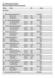 Mannschaftswertung Firmenlauf - LG Olympia Dortmund