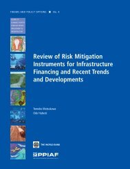 Review of Risk Mitigation Instruments for Infrastructure Financing ...