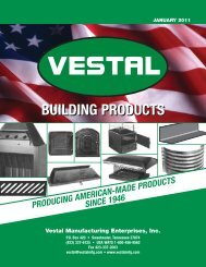 2004 Full Line Catalog - Vestal Manufacturing