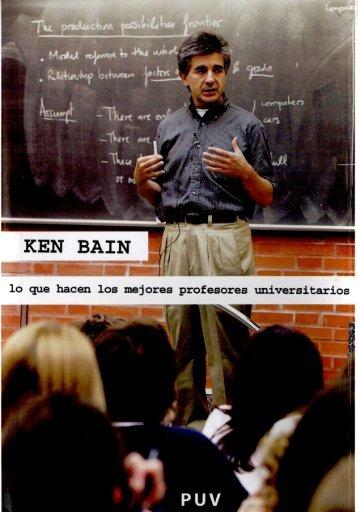 Ken Bain y resumen de su libro