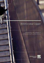 Antimicrobial Copper - for Architects and Designers