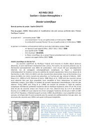 AO INSU 2013 Section « Océan-‐Atmosphère ... - Mercator Océan