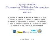 Le groupe COMODO COmmunauté de ... - Mercator Océan