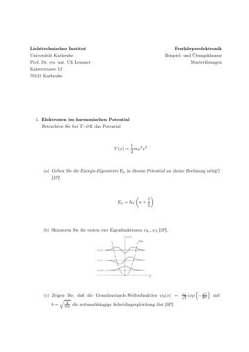 Musterklausur - Lösung - LTI