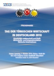 tag der türkischen wirtschaft in deutschland 2010 - Atiad