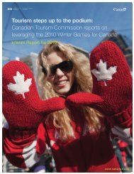 Tourism steps up to the podium: Canadian Tourism Commission ...