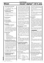 Winzer Clonid®-Ophtal® 1/8 % sine - Dr. Winzer Pharma