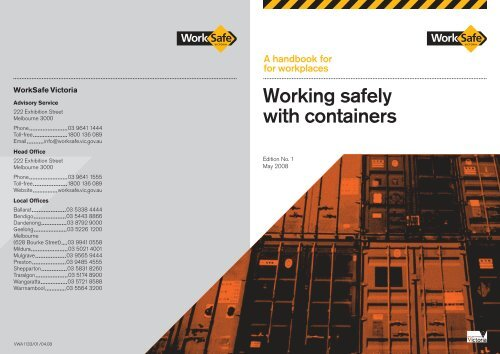 Working Safely With Containers Worksafe Victoria