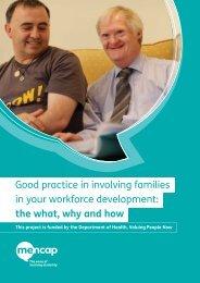 Good practice in involving families in your workforce development