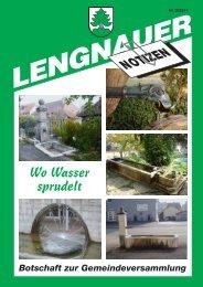 Wo Wasser sprudelt - Einwohnergemeinde Lengnau BE