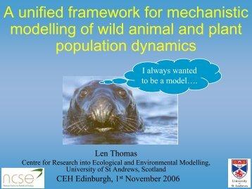 slides of talk - CREEM - University of St Andrews