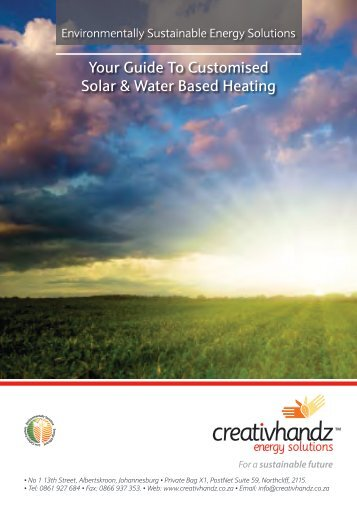 Solar & Water Based Heating Guide - creativhandz.co.za