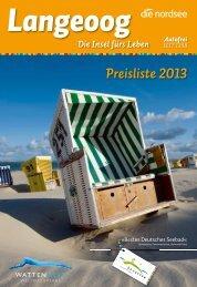 Freie Un terkünfte online: w w w .langeoog .de