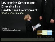 Leveraging Generational Diversity in a Health Care Environment