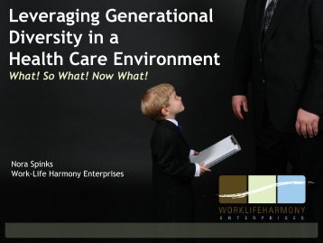 understanding and leveraging generational diversity for To examine each generation, and for leaders to leverage research findings  the  literature available in the area of generational diversity in the workplace is  minimal  importantly, a lack of understanding of these generations has  prevented.