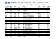 Stock Database - TRAX Motorsport Marketing