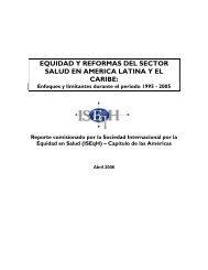 Equidad y Reforma del Sector Salud en América Latina y el Caribe