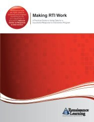 Making RTI Work - Renaissance Learning