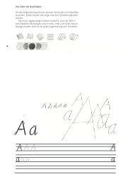 Das Alphabet üben - Schulschrift