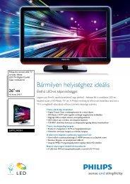 26PFL3405H/12 Philips LCD TV Digital Crystal Clear rendszerrel