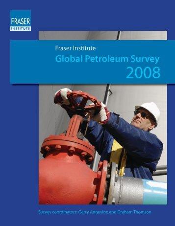 Fraser Institute Global Petroleum Survey 2008 - Petroleumclub.ro