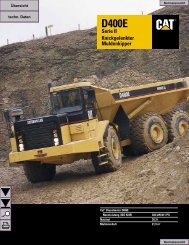 D400E Knickgelenkter Muldenkipper Serie II - Lectura SPECS