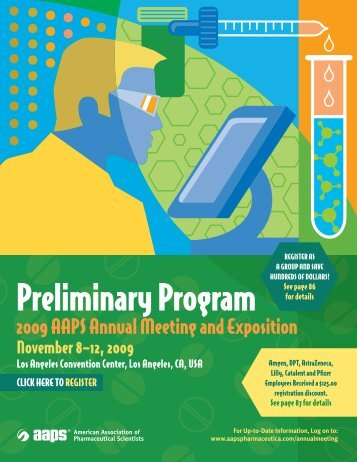 Preliminary Program - American Association of Pharmaceutical ...