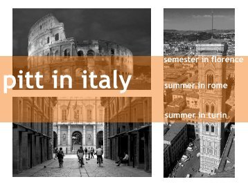"""(or """"Pitt-Developed"""") Programs in Italy - French & Italian Languages ..."""